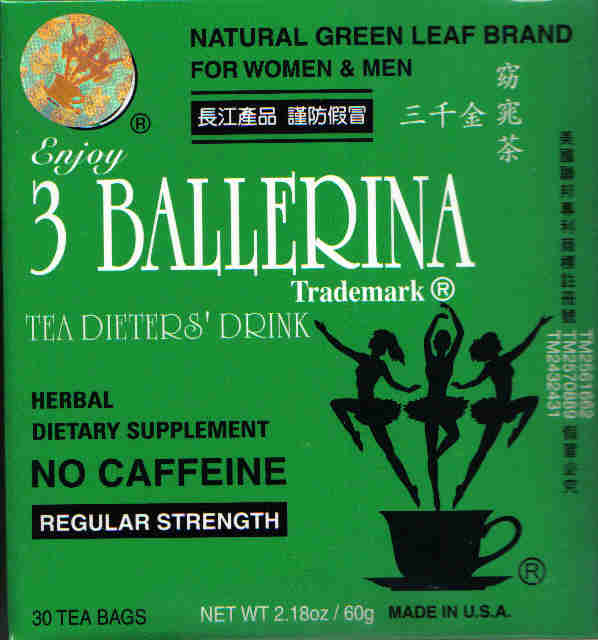 3 Ballerina Tea (Reg. Strength) 24 Tea Bags
