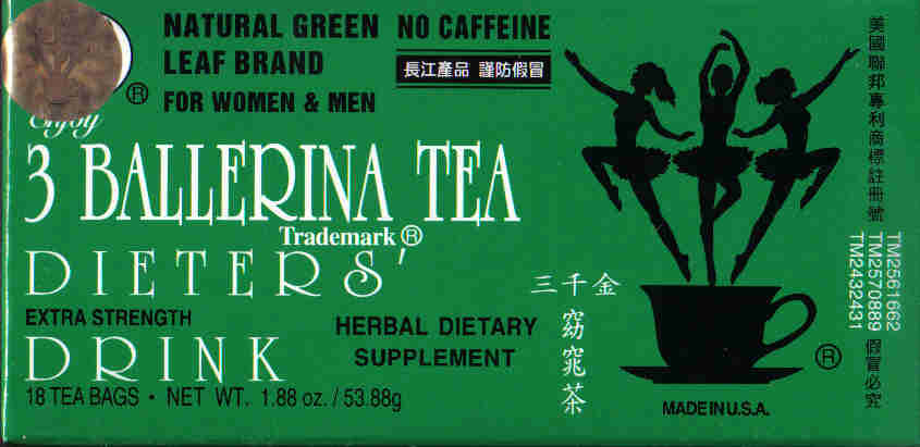 3 Ballerina Tea (Extra Strength) 18 Tea Bags
