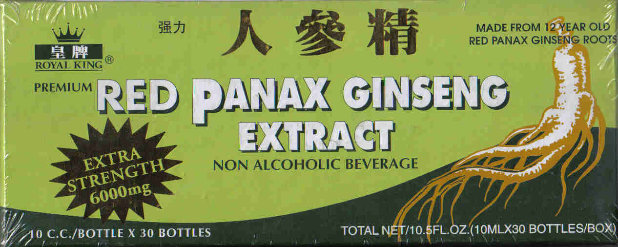 Red Panax Ginseng Extract 6000mg* (10 ml x 30 Vials)