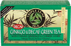 Ginkgo & Decaf Green Tea * (20 Tea Bags)